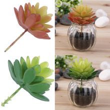 Hot Artificial Mini Lotus Plastic Miniature Succulents Plants Garden Home Decor New(China (Mainland))