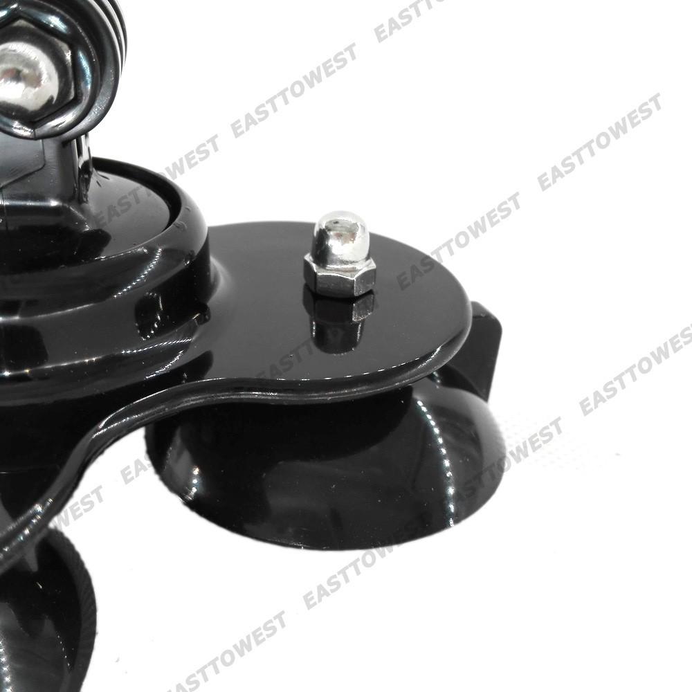 Gopro Accessories Triple Car Suction Cup Mount Stand for Xiaomi Yi Gopro Hero Action Camera Sjcam SJ4000 SJ5000 SJ7000
