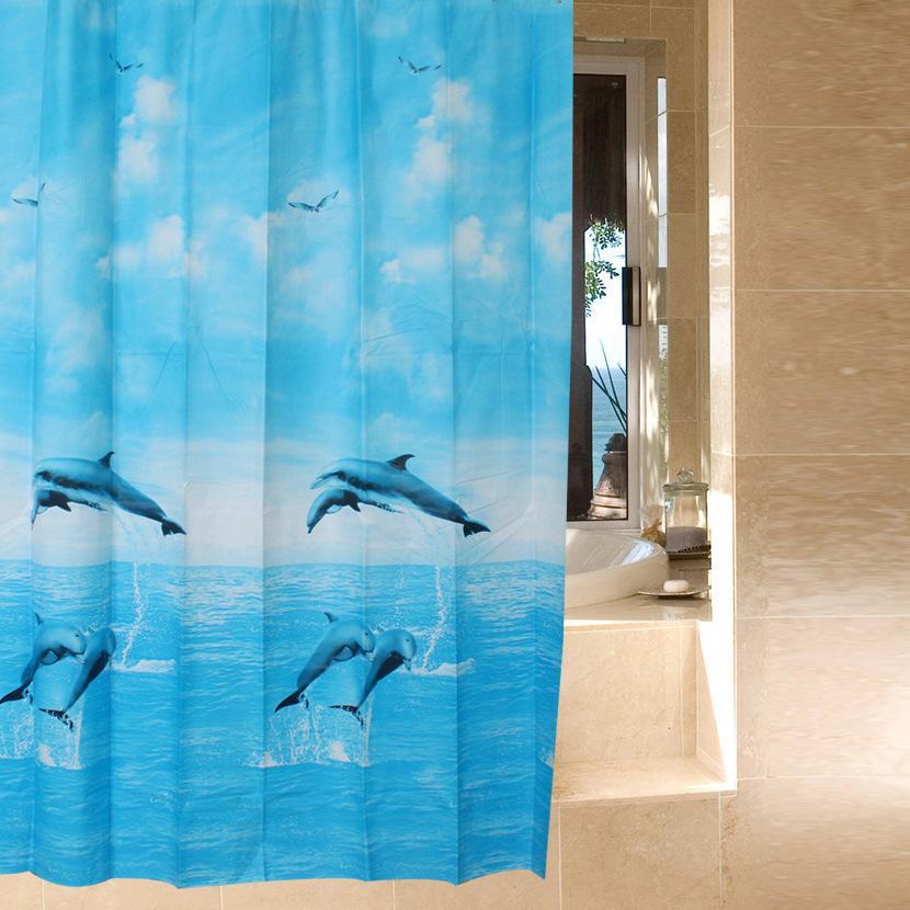 wire / PEVA shower curtain / waterproof shower curtain-in Shower ...