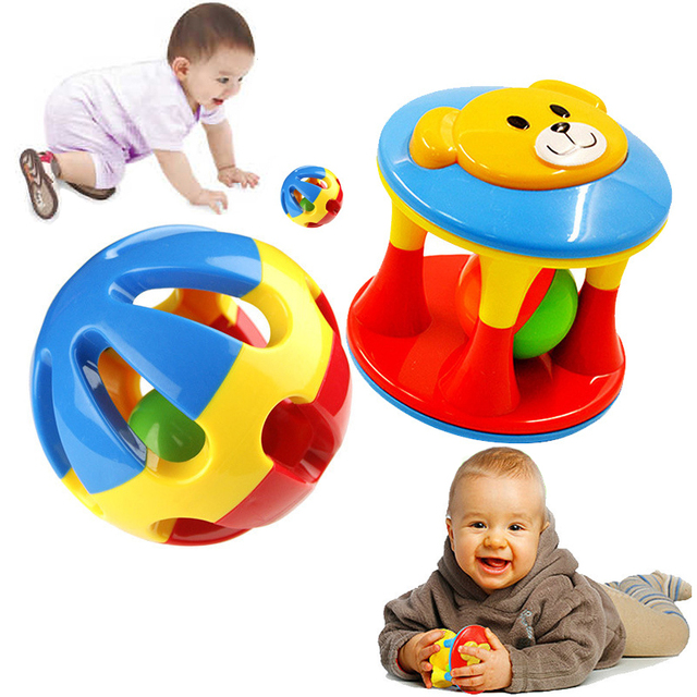 2Pcs Baby Toys Fun Little Loud Jingle Ball Develop Intelligence Train Grasping Ability Educational Toy For Baby 6M-1Year
