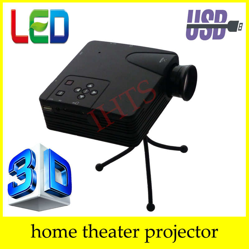 Newest 400lumens 3d projector led electric zoom portable for Micro mini projector