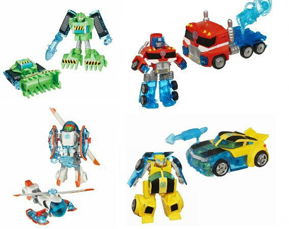 Promotion Deformation Rescue Bots Action Figures Toys Bumblebee Optimus Bulldozer Heliocpter Robots Gift for Boys