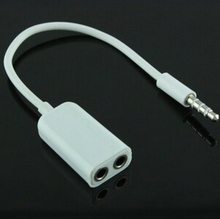 3.5mm double jack Headphone splitter for iPod iPhone 4 4S iPad2