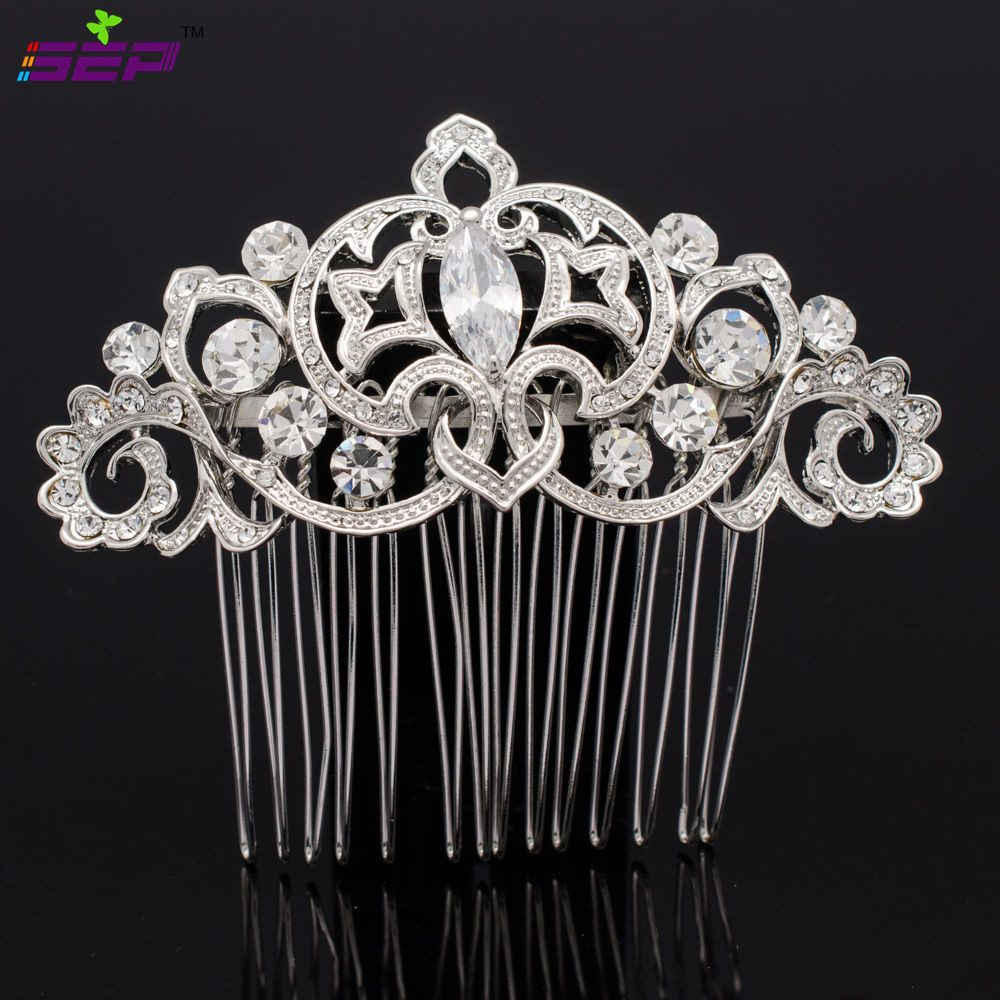 Vintage Style Bridal Hairpins Women Hair Comb Wedding Rhinestone Crystals Jewelry Accessories 2297R - SEP store