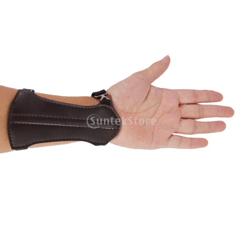 New Arrivals 2015 Artificial Cow Leather Shooting Archery Arm Guard Protect Safe Hunting Gear Free Shipping