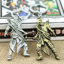 New Style fashion Cospaly Jewelry Keychain Game Assassins Creed Key Chain Game person Pendant Key Ring