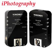 Yongnuo yn-622n yn 622 i inalámbrico ttl ittl hss 1/8000 s flash trigger 2 transceptores para nikon dslr