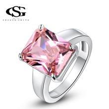G&S Valentine's day Gift swiss CZ Platinum plating luxury love pink ring arrow heart cuting Full set jewelry 1010011447