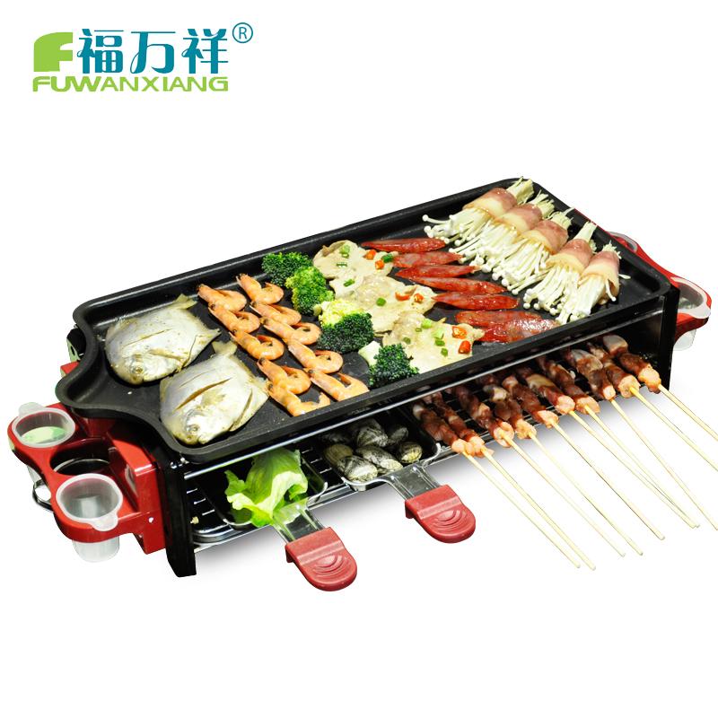 Бесплатная доставка электрический гриль машина электрической сковороды