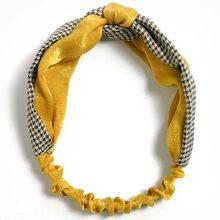 Kobiety wiosna zamszowy pałąk Vintage krzyżowy węzeł elastyczne gumki do włosów miękkie stałe dziewczyny Hairband akcesoria do włosów dla dziewczynki(China)