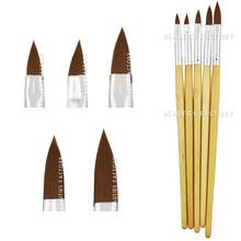 Beauties Factory Wooden Fine Acrylic Nail Art Tip Brush x 5 Models 2 4 6 8