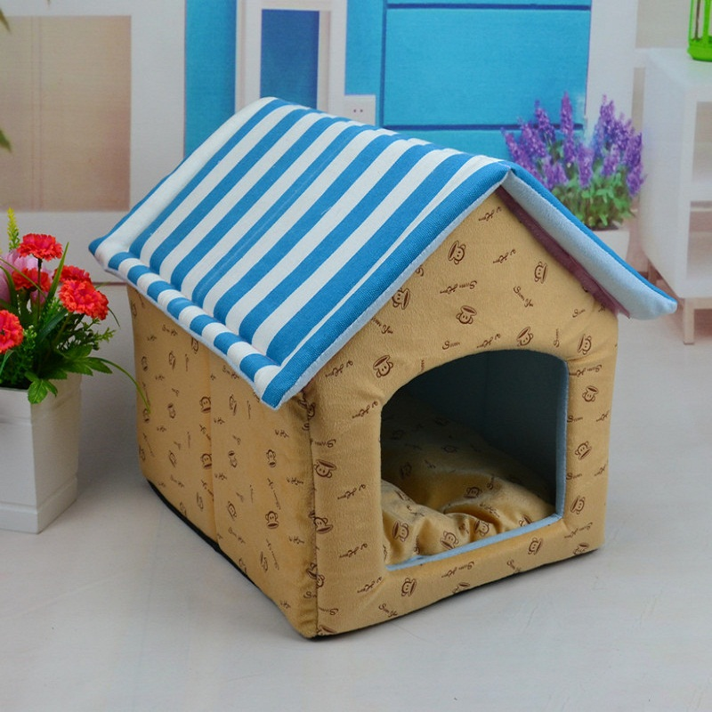 High Quality Dog Bed Puppy Cushion House Cat Bed Kennel Pet Mat/Pad Dog/Cat Pet Bed Dog/Cat Mat Blanket Plush Nest with 2 colors(China (Mainland))