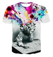 Alisister nuovo modo il pensatore stampa astratta t-shirt unisex donna/uomo casual 3d per gli uomini/donne harajuku tee shirt