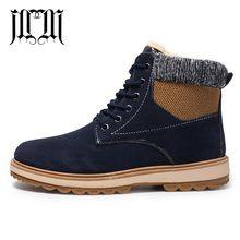 MUMUELI Pluche Blauw Bruin Zwart Lederen 2019 Designer Casual Hout Land Mannen Schoenen Hoge Top Kwaliteit Mode Platte Merk Laarzen m99(China)