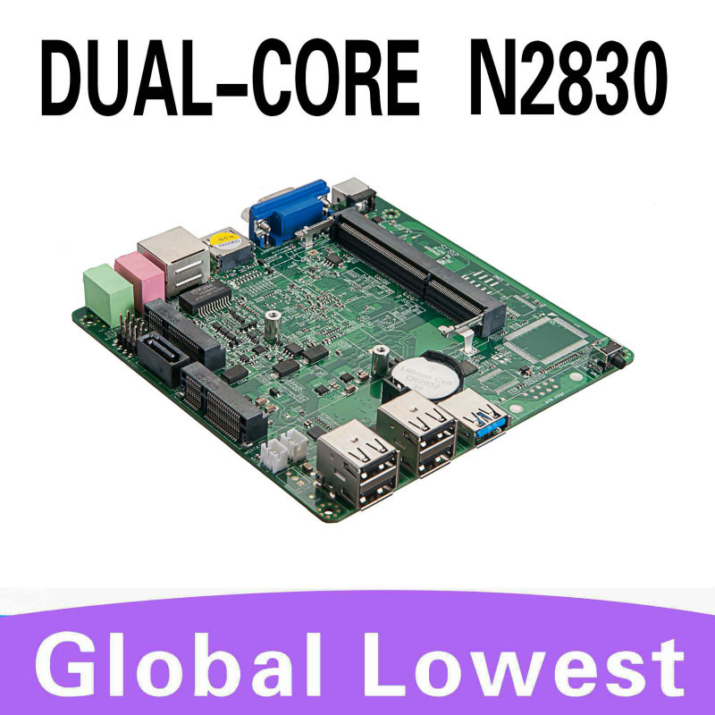 Hot selling network computer mainboard mini motherboard linux n2830 support performance 3D graphics win 7(China (Mainland))