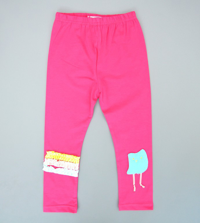hot pink pants kids Tights Baby girl Clothing toddler Trousers Cartoon Elastic Cotton cheap casual cute kinderkleding kinderen(China (Mainland))