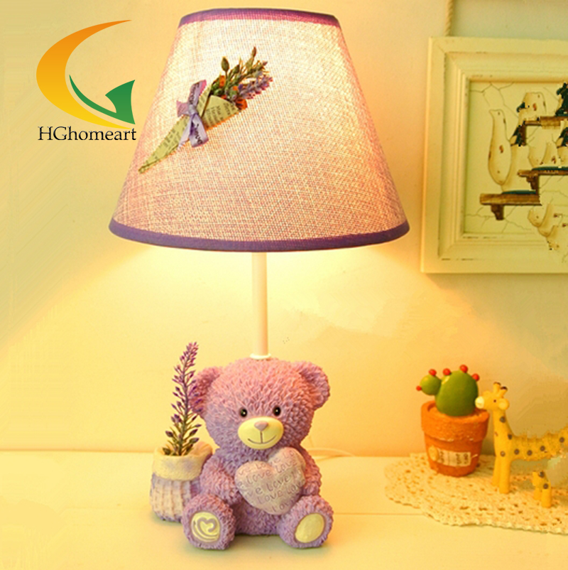 Creative children cartoon table lamp bedroom table lamp bedside lamp dimmer playful bear cute fashion(China (Mainland))
