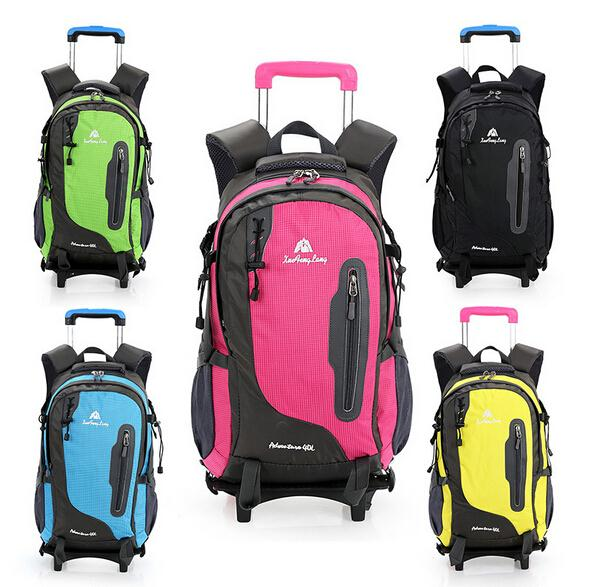 Best School bags fashion orthopedic backpack kids school bag wheels casual men women trolley detachable &80027 - Friday's Store store