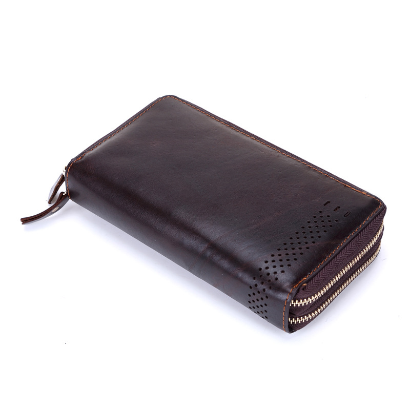 2015 New Arrival Genuine Leather Men Wallet Clutch Bag Zipper Large Capacity Man Long Wallet Male Carteira(China (Mainland))