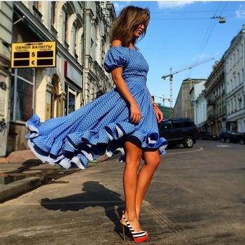 Платье короткая, стиль summmer   клуб женщины пляж макси длинная рукава salsh шея женское платья
