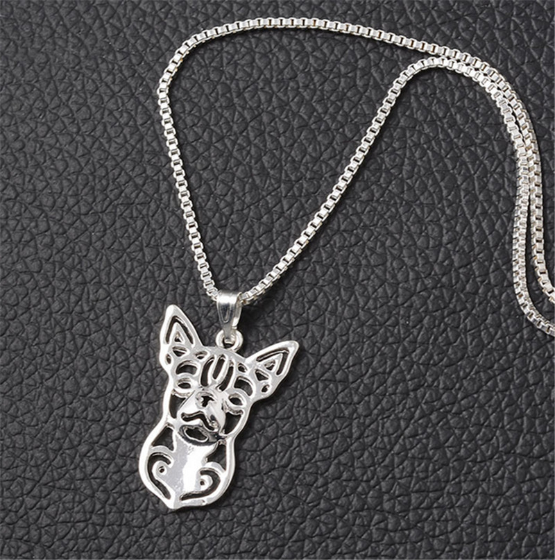 10pcs/lot Small Dog Breed Chihuahua Charm Necklace Hollow Dog Statement Choker Necklace for Women<br><br>Aliexpress