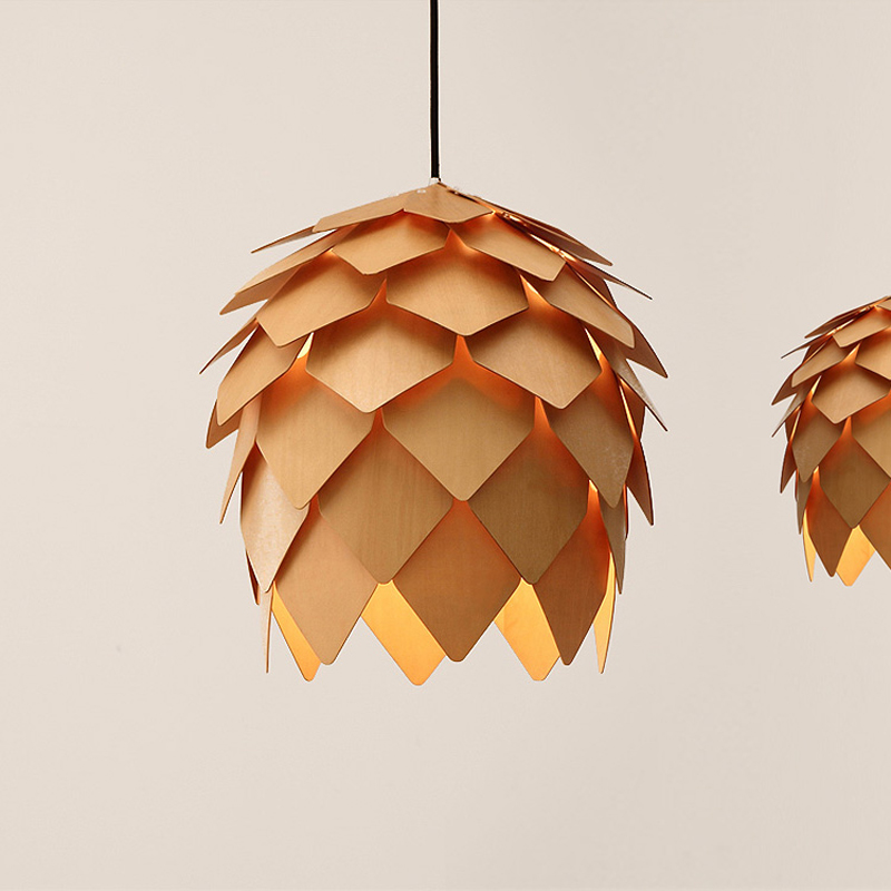 Фотография Nordic Style Pine cones Dining Room Chandelier Living Room Light Coffee Shop decoration Light D250/400/500MM Free Shipping