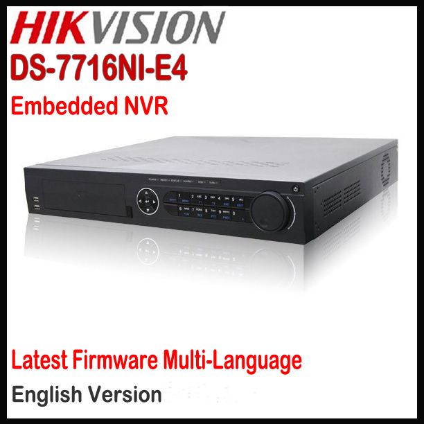 Hikvision NVR 16CH DS-7716NI-E4 Plug & Play network interface 4 SATA HDD 4TB each,Up to 6MP / 5MP / 3MP,IP NVR POE Onvif(China (Mainland))