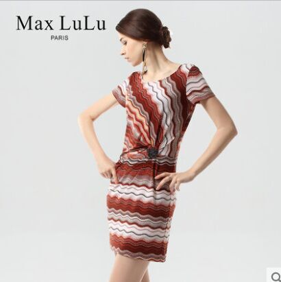 2015 new style lady round collar nail bead printing short sleeve dress restoring ancient ways summer t0273 - The silk road Online Store 519062 store
