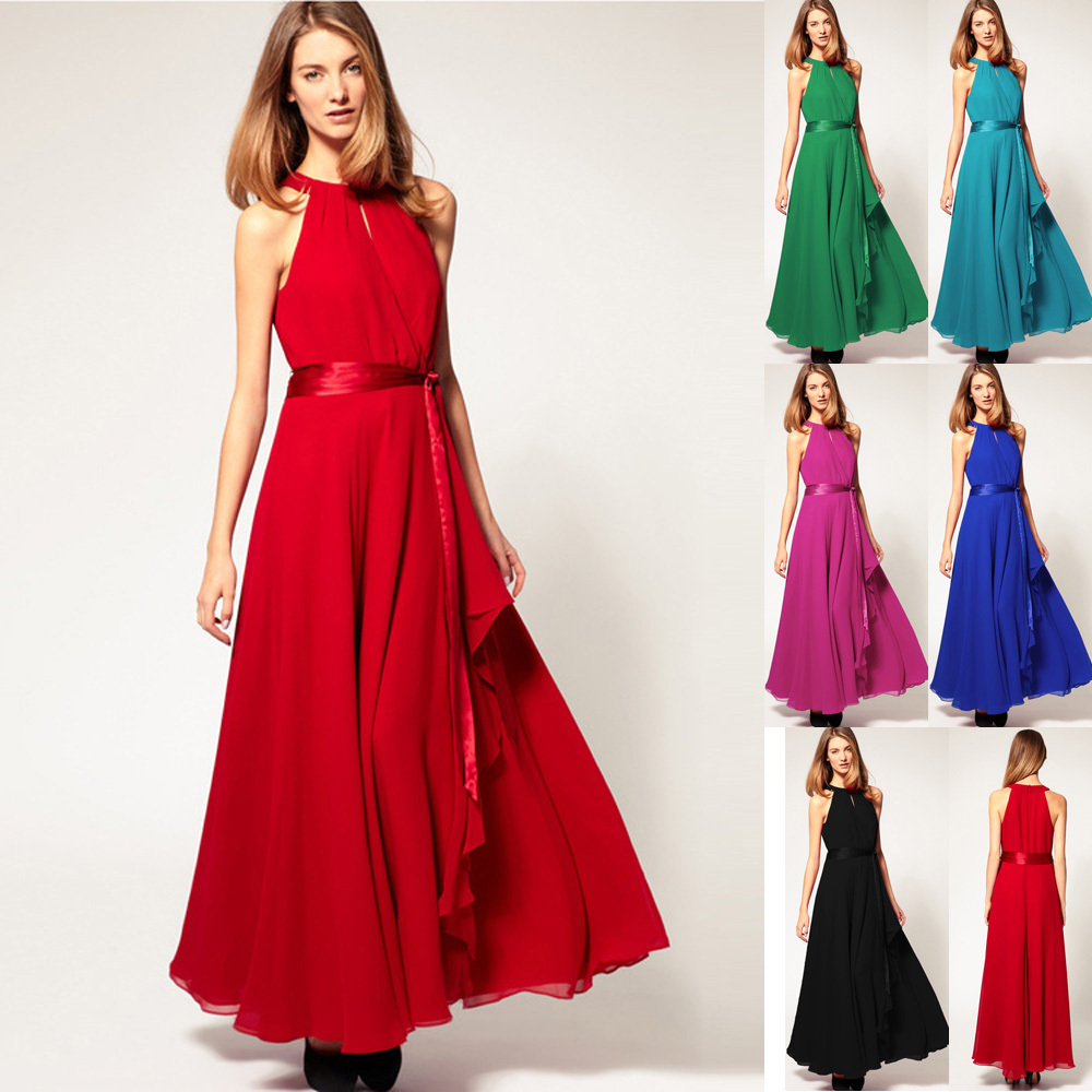 Long Halter Summer Dresses