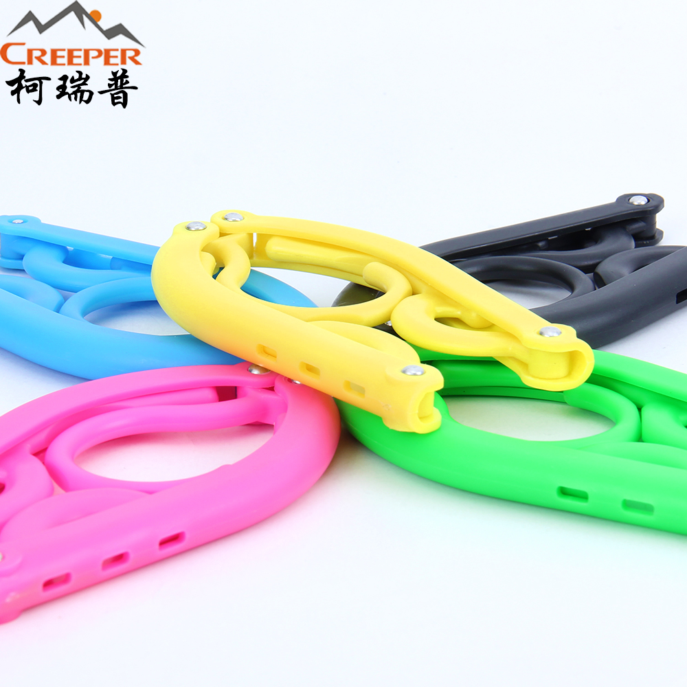 free shipping Outdoor portable plastic folding hanger travel multicolour racks hangers tourism supplies(China (Mainland))