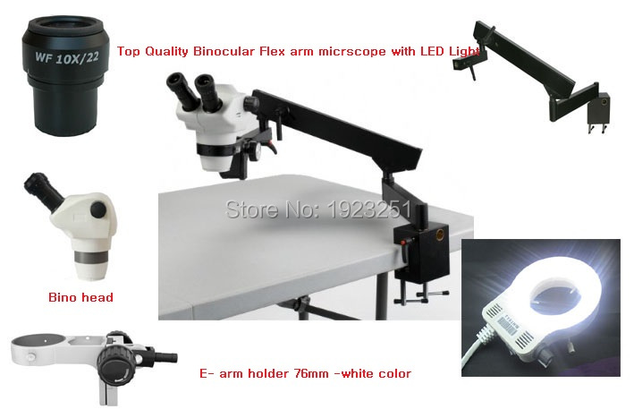 Best Sale,Top 8X-50X Articulating arm Stand/flex arm Stereo microscope -bino +56pin LED ringlight for Electronics,dissect field(China (Mainland))