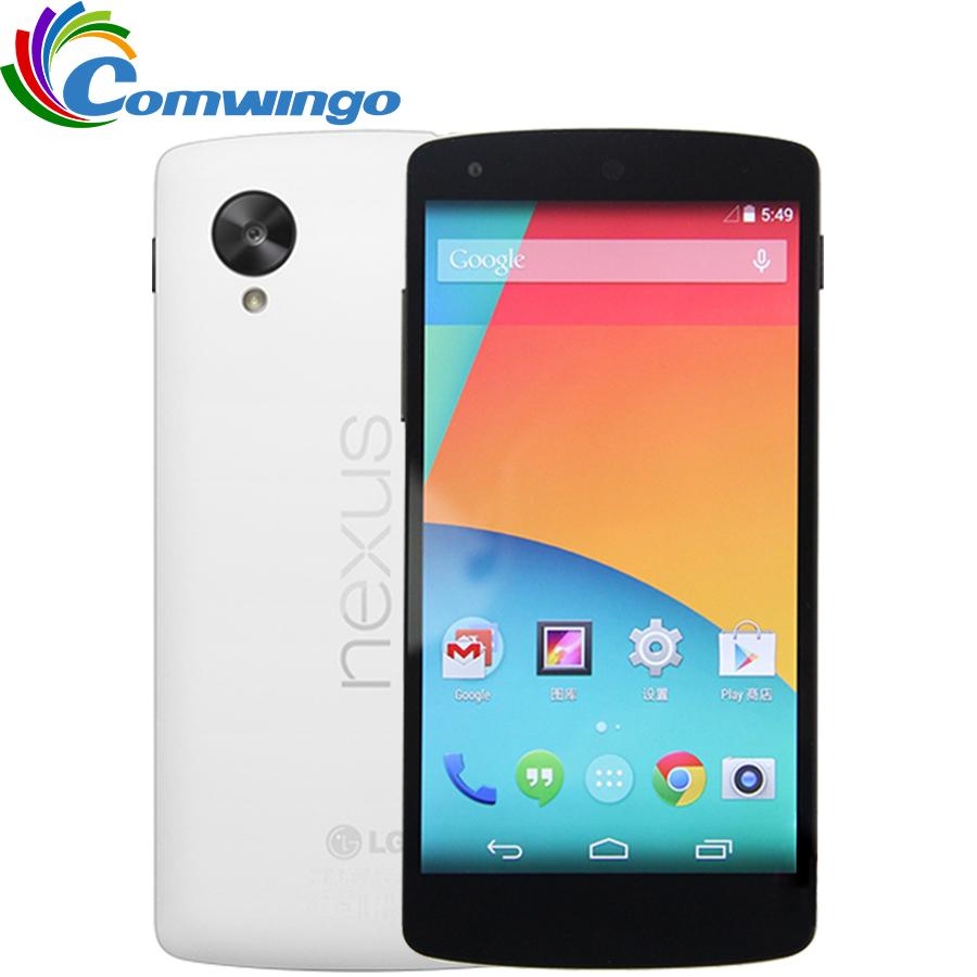 Original LG Google Nexus 5 D820 Quad Core GSM 3G&4G 8MP Smart Android phone WIFI GPS 2GB RAM 16GB ROM Cell Phone LG D820(China (Mainland))