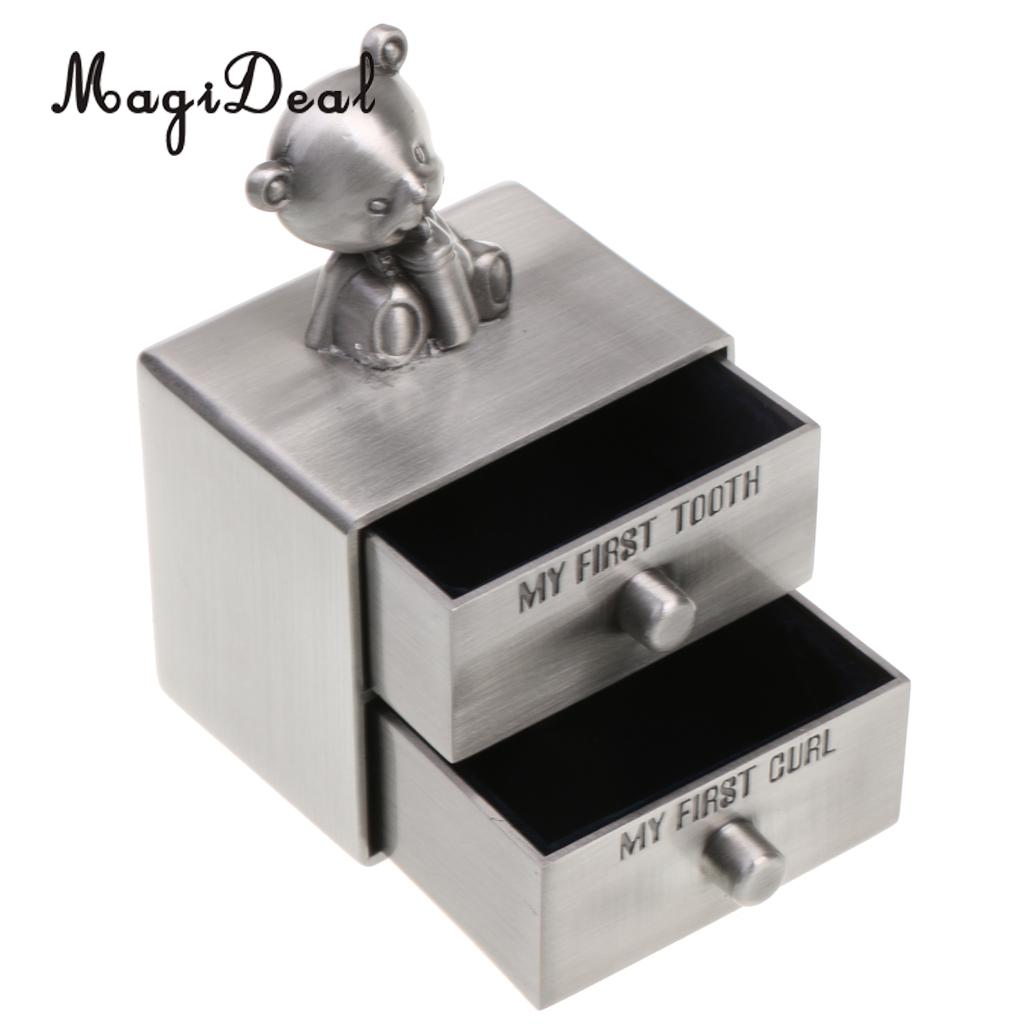 My First Tooth /& Curl Silver Trinket Box Set Keepsake Baby Shower Birthday Gifts