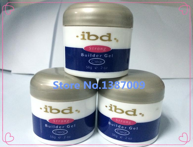 Factory Supply 3 pieces 2oz / 56g Clear Strong Builder Gel IBD Acrylic Nail Art UV nail Gel Polish Saloon Tools,air post ship(China (Mainland))
