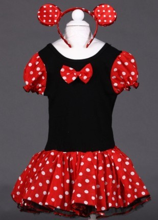 girls Minnie Mouse dress Party Christmas Costume Ballet Dress 2-10Y Kids free shipping