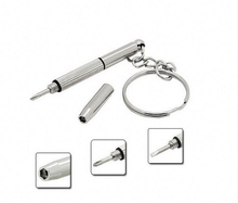 New Mini 3 in 1 Portable Silver Stainless Steel Screwdriver Keychain Combo repair watch cell phone Free shipping