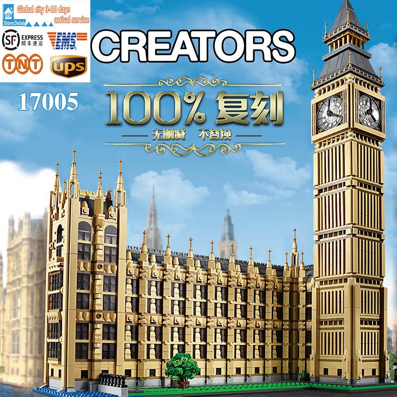 LEPIN 17005 4163 stks Big Ben Elizabeth Tower Model Building Kits Minifiguren Baksteen Bricks Speelgoed Compatibel legeod 10253
