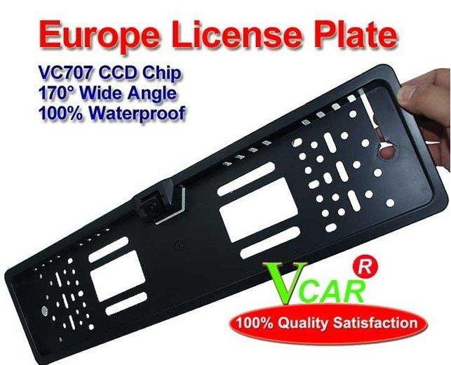 "Free Shipping!!European license 4.5"" plate frame Reverse Rearview backup Car Camera Waterproof"