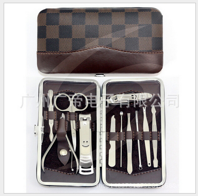 Beauty makeup 12pcs nails art maricure set nail clippers nail tools salon express scissors pincel de unha for manicure pedicure(China (Mainland))
