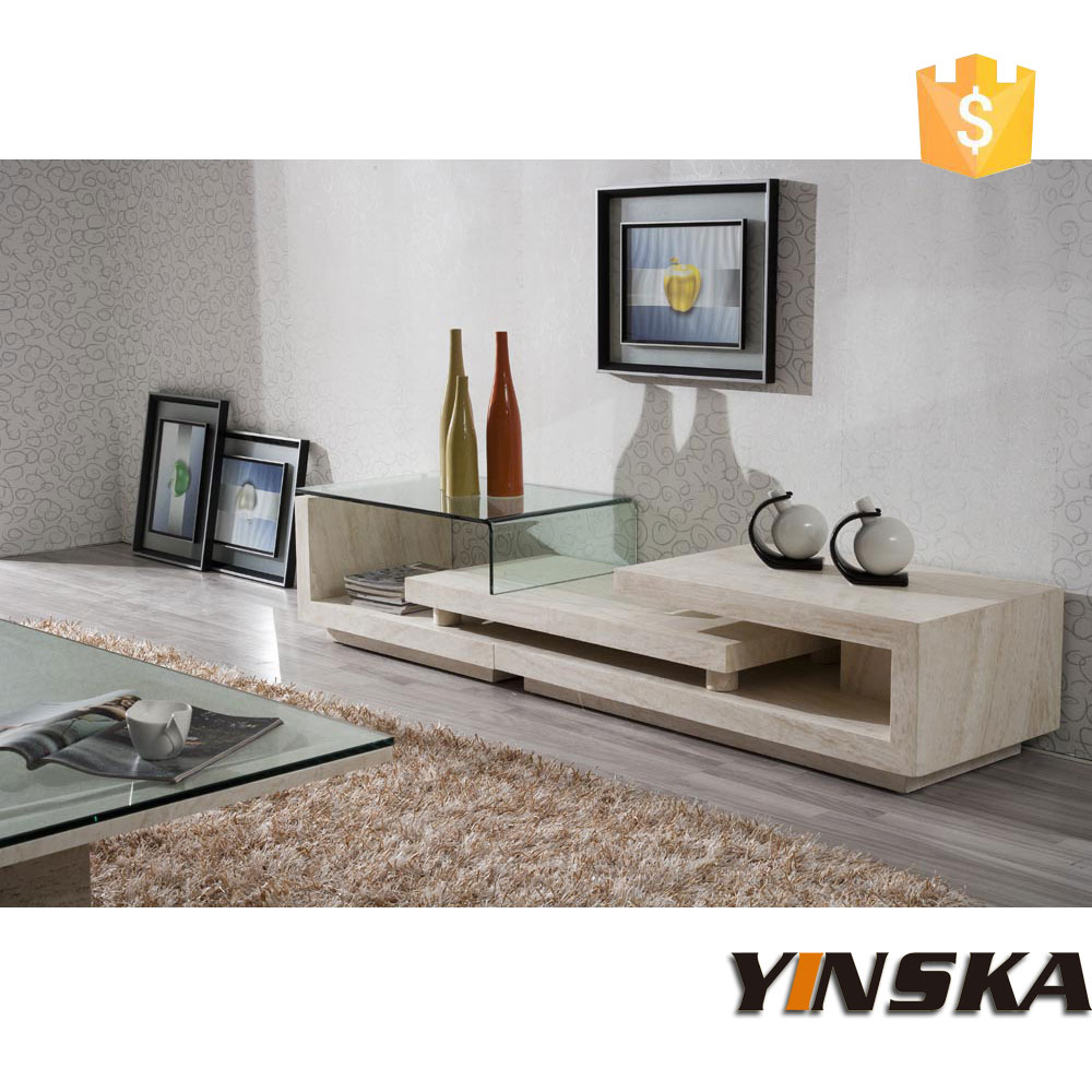 Fancy Design Marble Tv Stand