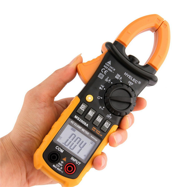 Professional Digital AC Clamp Meter Back light fluke Multimetro Clamps Leakage MS2008A Multimeter 2000 Counts Stock Offer(China (Mainland))