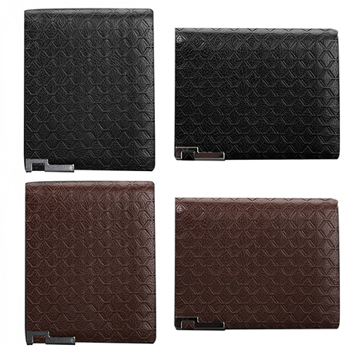 Bluelans Men s Short Faux Leather font b Tartan b font Pattern Zipper Wallet Card Money