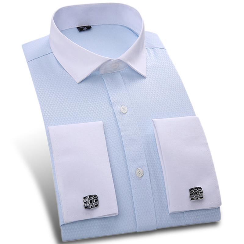 Buy 2017 spring new formal men dress for Mens dress shirts cufflinks