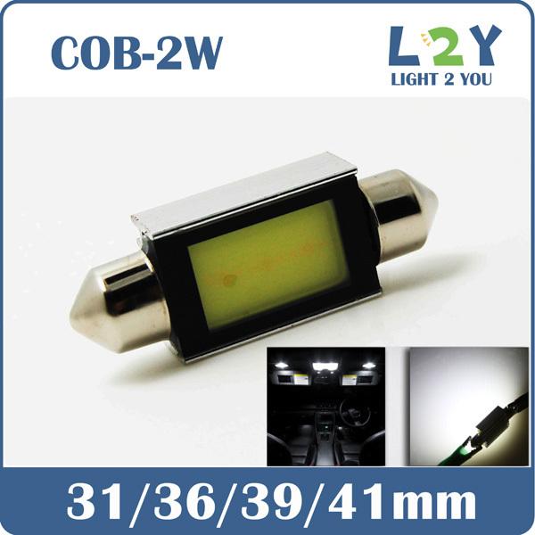 NEW DESIGN! LED C5W Canbus 36MM COB WHITE DOME LIGHT Festoon(China (Mainland))