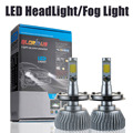 H7 LED headlight 32W 4400LM 6000K for car Automotive Headlight and Fog lamp H1 H3 H4