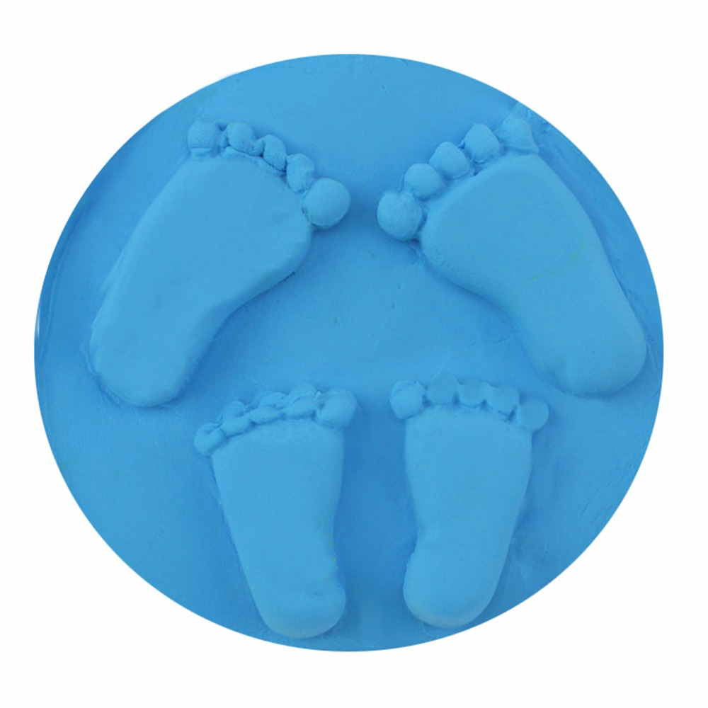 8 Colors Fashion Newborn Baby Handprint Footprint Imprint Kit Air Drying Soft Clay Casting Light Hand Print Inkpad