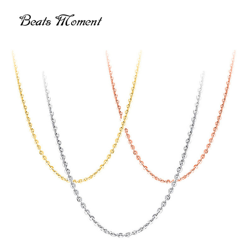 925 Sterling Silver Jewelry B&M 2016 Hot Sale Chains Necklaces 925 Sterling Silver Necklace Platinum Rose Gold Plated Pure Chain(China (Mainland))
