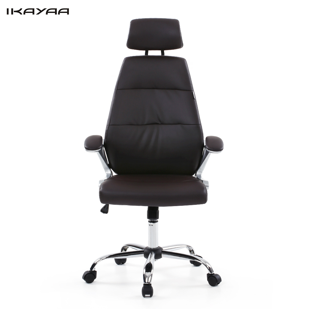 US Stock Brand IKAYAA Faux Leather Office Chair Stool High Back Ergonomic Swivel Computer Task Office Furniture Silla Ooficina(China (Mainland))