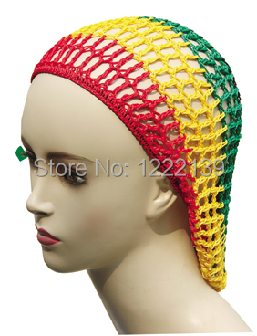 Crochet Hair On Net Cap : Soft Rayon Hair Snood Hat Hair Net Handmade Crocheted Hair Net Cap ...