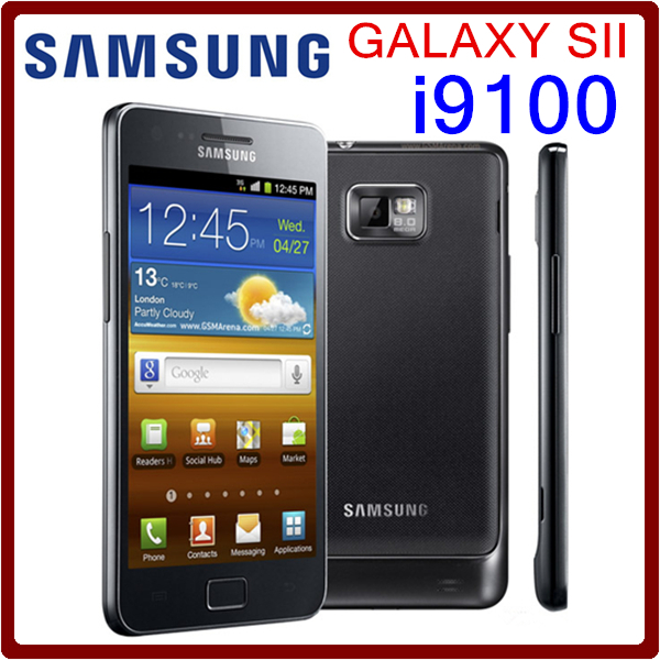 I9100 Original Unlocked Samsung Galaxy S2 I9100 GPS 16GB ROM 8MP 4.3 Inch`` Touchscreen Refurbished Smartphone Free Shipping(China (Mainland))